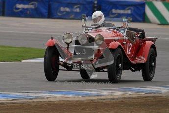 © Octane Photographic Ltd. Motors TV day – Donington Park, Saturday 31st March 2012. VSCC Pre-War Sportscars, Roger Buxton - Alfa Romeo 6C Zagato Spyder. Digital ref : 0265lw7d7108