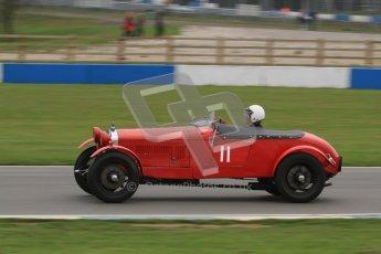 © Octane Photographic Ltd. Motors TV day – Donington Park, Saturday 31st March 2012. VSCC Pre-War Sportscars, Robin Toone - Alfa Romeo 1750. Digital ref : 0265lw7d7217