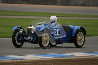 © Octane Photographic Ltd. Motors TV day – Donington Park,  Saturday 31st March 2012. VSCC Pre-War Sportscars, James Potter - Riley Brooklands. Digital ref : 0265lw7d7353