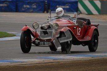 © Octane Photographic Ltd. Motors TV day – Donington Park,  Saturday 31st March 2012. VSCC Pre-War Sportscars, Roger Buxton - Alfa Romeo 6C Zagato Spyder. Digital ref : 0265lw7d7363