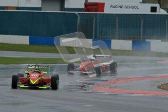 © Octane Photographic Ltd. MSVR - Donington Park, 29th April 2012 - F3 Cup. Tristan Cliffe, Dallara F307 and Neil Harrison, Dallara F302. Digital ref : 0311lw7d5544