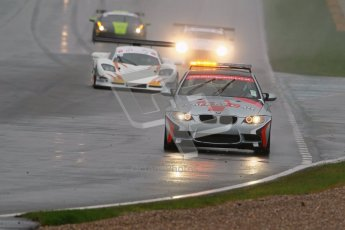 © Octane Photographic Ltd. MSVR - Donington Park, 29th April 2012 - GT Cup. Safety car leading the pack for the start. Digital ref : 0312lw1d6390