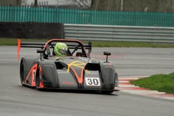 © Jones Photography. OSS Championship Round 1, Snetterton, 28th April 2012. Darcy Smith, Radical SR4. Digital Ref: 0390CJ7D9541
