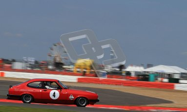 © Carl Jones / Octane Photographic Ltd. Silverstone Classic. Fujifilm Touring Car Trophy 1970-2000. 22nd July 2012. Christopher Ballard, Ford Capri. Digital Ref : 0415CJ7D1523