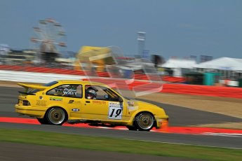 © Carl Jones / Octane Photographic Ltd. Silverstone Classic. Fujifilm Touring Car Trophy 1970-2000. 22nd July 2012. Graham Wait, Ford Sierra. Digital Ref : 0415CJ7D1906