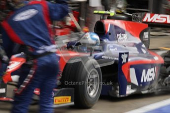 © 2012 Octane Photographic Ltd. British GP Silverstone - Saturday 7th July 2012 - GP2 Race 1 - iSport International - Jolyon Palmer pit stop. Digital Ref : 0400lw7d6137