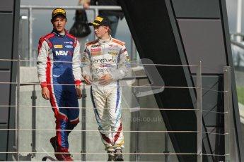 © 2012 Octane Photographic Ltd. British GP Silverstone - Saturday 7th July 2012 - GP2 Race 1, Jolyon Palmer and Johnny Cecotto. Digital Ref : 0400lw7d6600