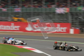 © 2012 Octane Photographic Ltd. British GP Silverstone - Sunday 8th July 2012 - GP2 Race 2 - Lotus GP - Esteban Gutierrez leads Johnny Cecotto. Digital Ref : 0401lw7d7417