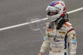 © 2012 Octane Photographic Ltd. British GP Silverstone - Sunday 8th July 2012 - GP2 Race 2 - Johnny Cecotto walks back to the pits. Digital Ref : 0401lw7d7513
