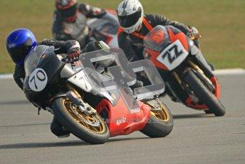 © Octane Photographic Ltd. Thundersport – Donington Park -  24th March 2012. RST Motorcycle Clothing Golden Era Superbikes, Andrew Dumbill and Lee Reveley. Digital ref : 0257cb7d2802