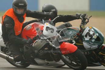 © Octane Photographic Ltd. Thundersport – Donington Park -  24th March 2012. HEL Performance Streetfighters, Steve Watkin and Andy Denyer. Digital ref : 0253cb7d1812