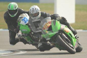 © Octane Photographic Ltd. Thundersport – Donington Park -  24th March 2012. HMT Racing Pre-National Sport 600, Michael Golden and Mark Burditt. Digital ref : 0255cb7d2316