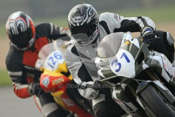 © Octane Photographic Ltd. Thundersport – Donington Park - 24th March 2012. HMT Racing Pre-National Sport 600, Colin Wilson and Dean Young. Digital ref : 0255cb7d2365
