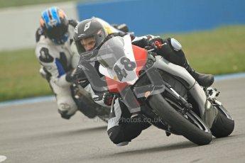 © Octane Photographic Ltd. Thundersport – Donington Park - 24th March 2012. Doodson Motorsport Supertwins & F400, Rhys Hutchinson. Digital ref : 0254cb7d1850