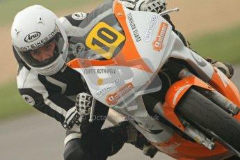 © Octane Photographic Ltd. Thundersport – Donington Park -  24th March 2012. Doodson Motorsport Supertwins & F400, Curtis Rothwell. Digital ref : 0254cb7d1969