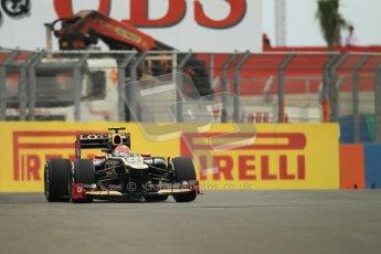 © 2012 Octane Photographic Ltd. European GP Valencia - Friday 22nd June 2012 - F1 Practice 1. Lotus E20 - Romain Grosjean. Digital Ref : 0367lw1d2828