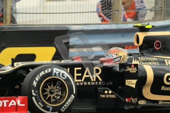 © 2012 Octane Photographic Ltd. European GP Valencia - Friday 22nd June 2012 - F1 Practice 1. Lotus E20 - Romain Grosjean. Digital Ref : 0367lw1d2838
