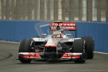 © 2012 Octane Photographic Ltd. European GP Valencia - Friday 22nd June 2012 - F1 Practice 1. McLaren MP4/27 - Lewis Hamilton. Digital Ref : 0367lw1d2870