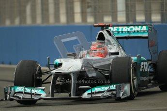 © 2012 Octane Photographic Ltd. European GP Valencia - Friday 22nd June 2012 - F1 Practice 1. Mercedes W03 - Michael Schumacher. Digital Ref : 0367lw1d2989