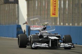 © 2012 Octane Photographic Ltd. European GP Valencia - Friday 22nd June 2012 - F1 Practice 1. Williams FW34 - Valtteri Bottas. Digital Ref : 0367lw1d3002