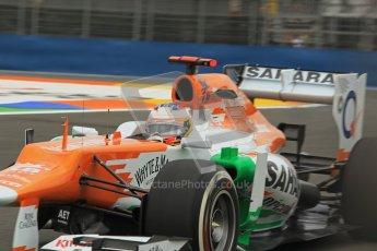 © 2012 Octane Photographic Ltd. European GP Valencia - Friday 22nd June 2012 - F1 Practice 1. Force India VJM05 - Paul di Resta. Digital Ref : 0367lw1d3336
