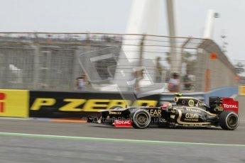 © 2012 Octane Photographic Ltd. European GP Valencia - Friday 22nd June 2012 - F1 Practice 1. Lotus E20 - Romain Grosjean. Digital Ref : 0367lw7d0015