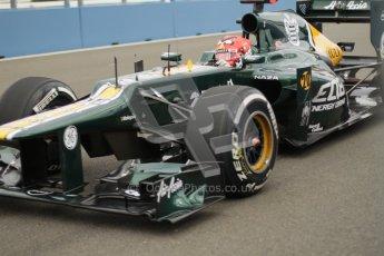 © 2012 Octane Photographic Ltd. European GP Valencia - Friday 22nd June 2012 - F1 Practice 1. Caterham CT01 - Heikki Kovalainen. Digital Ref : 0367lw7d9057