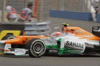 © 2012 Octane Photographic Ltd. European GP Valencia - Friday 22nd June 2012 - F1 Practice 1. Force India VJM05 - Jules Bianchi. Digital Ref : 0367lw7d9566