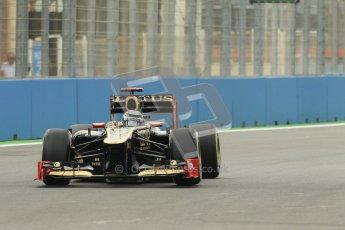 © 2012 Octane Photographic Ltd. European GP Valencia - Friday 22nd June 2012 - F1 Practice 2. Lotus E20 - Kimi Raikkonen. Digital Ref : 0368lw1d3633