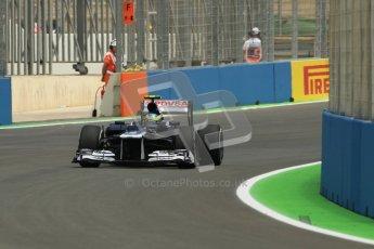 © 2012 Octane Photographic Ltd. European GP Valencia - Friday 22nd June 2012 - F1 Practice 2. Williams FW34 - Bruno Senna. Digital Ref : 0368lw1d3733
