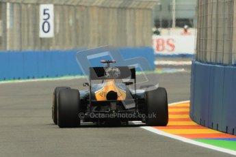 © 2012 Octane Photographic Ltd. European GP Valencia - Friday 22nd June 2012 - F1 Practice 2. Caterham CT01 - Heikki Kovalainen. Digital Ref : 0368lw1d3904