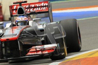 © 2012 Octane Photographic Ltd. European GP Valencia - Friday 22nd June 2012 - F1 Practice 2. McLaren MP4/27 - Jenson Button. Digital Ref : 0368lw1d4102