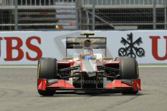 © 2012 Octane Photographic Ltd. European GP Valencia - Friday 22nd June 2012 - F1 Practice 2. HRT F112 - Narain Karthikeyan. Digital Ref : 0368lw1d4242