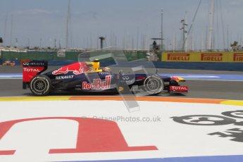 © 2012 Octane Photographic Ltd. European GP Valencia - Friday 22nd June 2012 - F1 Practice 2. Red Bull RB8 - Mark Webber. Digital Ref : 0368lw7d0523
