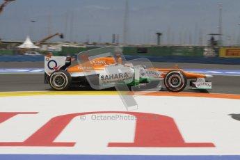 © 2012 Octane Photographic Ltd. European GP Valencia - Friday 22nd June 2012 - F1 Practice 2. Force India VJM05 - Paul di Resta. Digital Ref : 0368lw7d0533