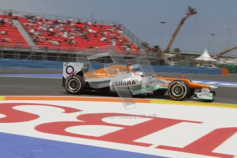 © 2012 Octane Photographic Ltd. European GP Valencia - Friday 22nd June 2012 - F1 Practice 2. Force India VJM05 - Paul di Resta. Digital Ref : 0368lw7d0581