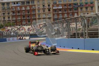 © 2012 Octane Photographic Ltd. European GP Valencia - Friday 22nd June 2012 - F1 Practice 2. Lotus E20 - Romain Grosjean. Digital Ref : 0368lw7d0759