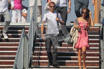 © 2012 Octane Photographic Ltd. European GP Valencia - Sunday 24th June 2012 - F1 Paddock. McLaren MP4/27 - Jenson Button and Jessica Michibata . Digital Ref : 0373lw1d6001