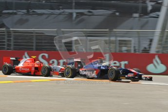 © 2012 Octane Photographic Ltd. European GP Valencia - Saturday 23rd June 2012 - GP2 Race 1 - iSport International - Marcus Ericsson and Liuz Razia - Arden International. Digital Ref : 0372lw1d5454