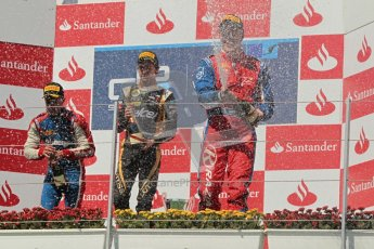 © 2012 Octane Photographic Ltd. European GP Valencia - Saturday 23rd June 2012 - GP2 Race 1 Podium. Esteban Gutierrez, Marcus Ericsson and Luiz Razia. Digital Ref :  0372lw1d5872