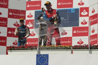 © 2012 Octane Photographic Ltd. European GP Valencia - Saturday 23rd June 2012 - GP2 Race 1 Podium. Esteban Gutierrez, Marcus Ericsson and Luiz Razia. Digital Ref :  0372lw1d5874