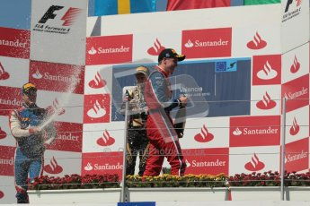 © 2012 Octane Photographic Ltd. European GP Valencia - Saturday 23rd June 2012 - GP2 Race 1 Podium. Esteban Gutierrez, Marcus Ericsson and Luiz Razia. Digital Ref :  0372lw1d5878