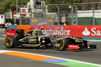 © 2012 Octane Photographic Ltd. European GP Valencia - Saturday 23rd June 2012 - F1 Practice 3. Lotus E20 - Kimi Raikkonen. Digital Ref : 0371lw1d4645