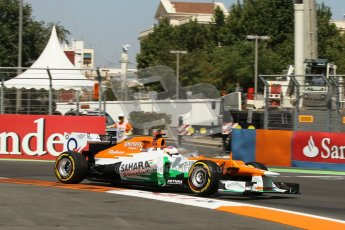 © 2012 Octane Photographic Ltd. European GP Valencia - Saturday 23rd June 2012 - F1 Practice 3. Force India VJM05 - Paul di Resta. Digital Ref : 0371lw1d4659