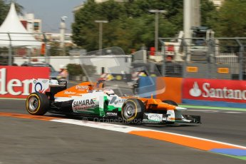 © 2012 Octane Photographic Ltd. European GP Valencia - Saturday 23rd June 2012 - F1 Practice 3. Force India VJM05 - Paul di Resta. Digital Ref : 0371lw1d4803
