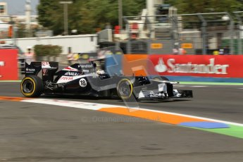 © 2012 Octane Photographic Ltd. European GP Valencia - Saturday 23rd June 2012 - F1 Practice 3. Williams FW34 - Pastor Maldonado. Digital Ref : 0371lw1d4836