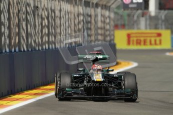 © 2012 Octane Photographic Ltd. European GP Valencia - Saturday 23rd June 2012 - F1 Practice 3. Caterham CT01 - Heikki Kovalainen. Digital Ref : 0371lw7d1545