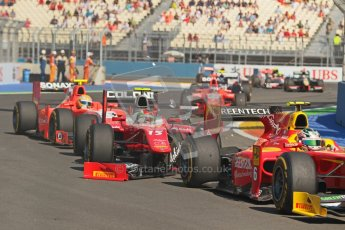 © 2012 Octane Photographic Ltd. European GP Valencia - Sunday 24th June 2012 - GP2 Race 2 - Racing Engineering - Nathanael Berthon tangles with Fabio Onidi of Scuderia Coloni and removes his front wing. Digital Ref : 0375lw1d6042