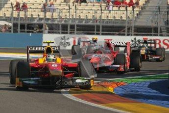 © 2012 Octane Photographic Ltd. European GP Valencia - Sunday 24th June 2012 - GP2 Race 2 - Racing Engineering - Nathanael Berthon ahead of Simon Trummer - Arden International. Digital Ref : 0375lw1d6080