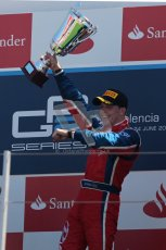 © 2012 Octane Photographic Ltd. European GP Valencia - Sunday 24th June 2012 - GP2 Race 2 Podium - Luiz Razia - Arden International. Digital Ref : 0375lw1d6615